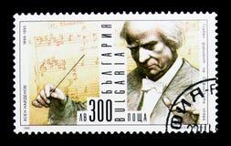 Portret Assen Naidenov, dyrygent, rocznicy Kulturalni mężczyzna i artysty seria około 1999, Zdjęcia Stock