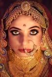 Portret atrakcyjna indyjska Hinduska panna m?oda obraz royalty free
