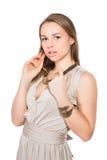 Portret atrakcyjna młoda blondynka Zdjęcia Stock