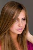 Portret atrakcyjna modna młoda kobieta Obraz Royalty Free