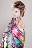 Portret atrakcyjne młode kobiety w azjata stylu Fotografia Royalty Free
