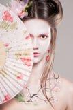 Portret atrakcyjne młode kobiety w azjata stylu Fotografia Stock
