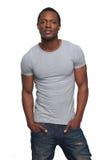 Atrakcyjny amerykanina afrykańskiego pochodzenia mężczyzna zdjęcie royalty free