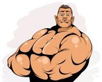 Portret atrakcyjny bodybuilder royalty ilustracja