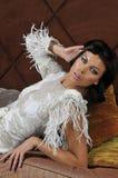 Portret atrakcyjny brunetka model Zdjęcie Royalty Free