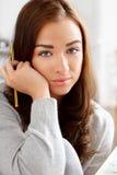 Portret atrakcyjny młody uczeń Zdjęcia Royalty Free
