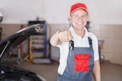 Portret Auto mechanik Zdjęcia Royalty Free