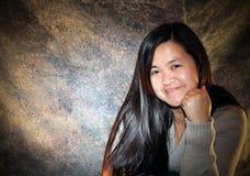 Portret Azjatycka Dama Obrazy Stock