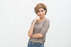Portret Azjatycka kobieta Obrazy Royalty Free