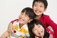 Portret azjatykci dziecko z uśmiech twarzą Obrazy Stock