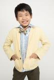 Portret azjatykcia śliczna chłopiec z uśmiech twarzą Obraz Stock