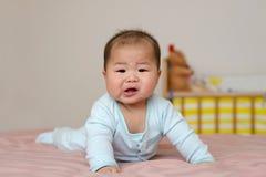 Portret azjatykcia chłopiec mali 7 miesięcy starych obraz royalty free