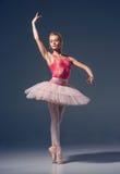 Portret balerina w baletniczej pozie Zdjęcie Royalty Free