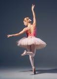 Portret balerina w baletniczej pozie Zdjęcie Stock