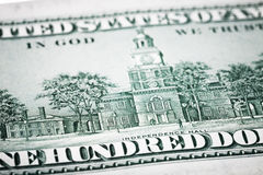 Portret Benjamin Franklin od sto dolarów banknotów Zdjęcie Royalty Free