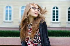 Portret beztroska dziewczyna Zdjęcie Royalty Free
