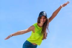 Portret beztroska nastolatek dziewczyna plenerowa Zdjęcie Stock