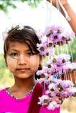 Portret Birmaans meisje stock foto's
