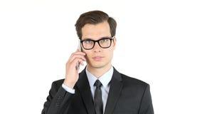 Portret biznesmena mówienie na smartphone Obrazy Stock