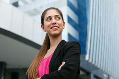 Portret Biznesowej kobiety kopii Ufna Przyglądająca przestrzeń Obraz Stock