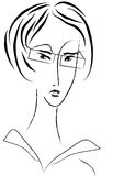 portret bizneswomanu wektora obrazy royalty free