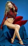 portret blasku seksowna kobieta Zdjęcia Stock
