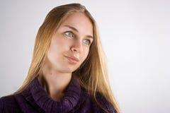 Portret blond dziewczyna Zdjęcia Royalty Free