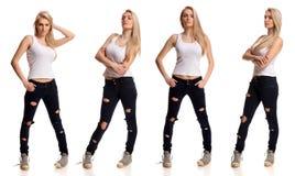 Portret blond nastoletni Zdjęcie Stock