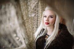 Portret blondynka Viking Zdjęcie Stock