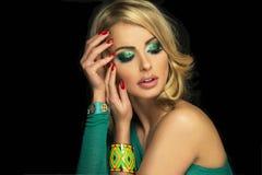 Portret blondynki kobieta. Zdjęcie Royalty Free