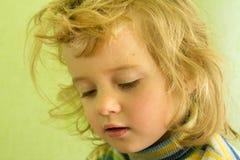 Portret blondynki śliczna dziewczyna Obrazy Royalty Free