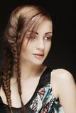 Portret blondynki piękna młoda kobieta Fotografia Royalty Free
