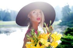 Portret blondynki piękno Fotografia Royalty Free