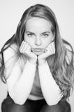 Portret bored royalty-vrije stock fotografie