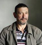 Portret brodaty zdziwiony mężczyzna grunge styl obrazy royalty free