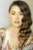 Portret brunetki dama. Obraz Royalty Free
