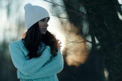 Portret brunetki dziewczyna obraz stock
