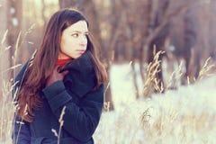 Portret brunetki dziewczyna obrazy stock