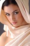 Portret brunetki kobieta Zdjęcia Royalty Free