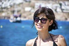 Portret brunetki kobieta w swimsuit Zdjęcie Royalty Free