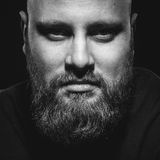 Portret brutalny mężczyzna z brodą zdjęcia stock