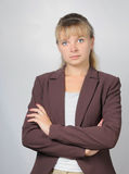 Portret of business woman royalty free stock photography