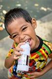 Portret chłopiec Asia troszkę Obrazy Royalty Free