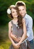 Portret chłopiec dziewczyna Obraz Royalty Free