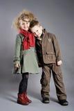 Portret chłopiec i dziewczyny Obrazy Royalty Free