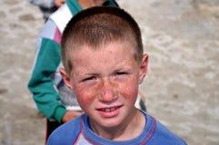 Portret chłopiec troszkę, śliczna twarz zdjęcie stock