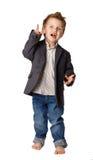 Portret chłopiec w kostiumu. Odizolowywający Fotografia Stock