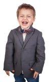Portret chłopiec w kostiumu. Odizolowywający Obraz Royalty Free