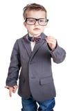 Portret chłopiec z szkłami obraz stock