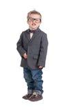 Portret chłopiec z szkłami obrazy royalty free